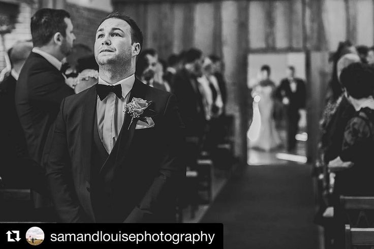 Mr Kelly who hired from our Colchester branch wearing our royal blue slim fit shawl collar dinner suit with matching double breasted waistcoat looking very nervous as his wife to be gets ready to make her way down the aisle towards the alter