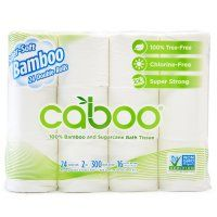 Caboo Bamboo & Sugarcane 2ply Toilet Roll - Pack of 24 | Natural Collection £13.38