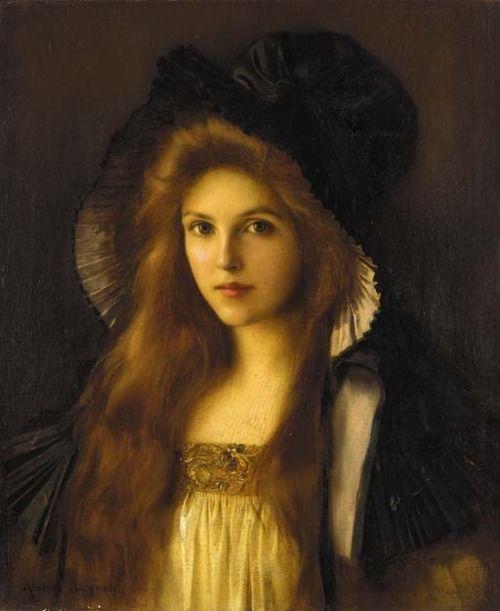 Beautiful Betty - Albert Lynch (1851-1912) Peruvian - mediums -  Pastel, Gouache and Watercolor