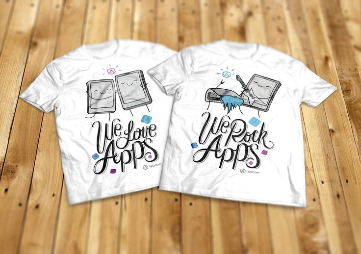 t-shirt design | we love apps | we rock apps | dress to impress | sketch | appcom