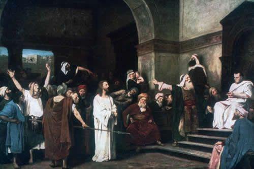 Jezus bij Pontius Pilatus door Mihály Munkácsy, 1881