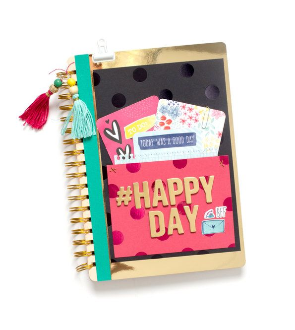 Decorate the cover of a journal with scrapbook supplies! This would make a great gift!