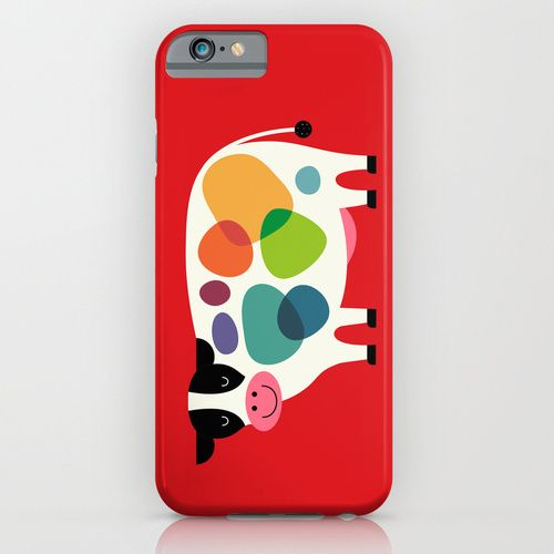 Awesome Cow iPhone & iPod Case cow, awesome, happy, smile