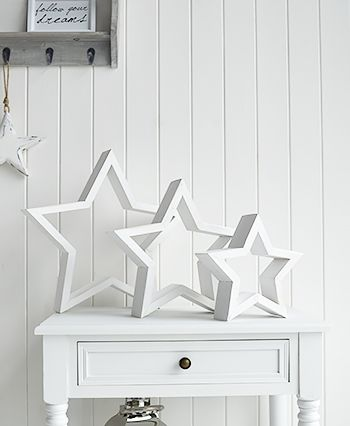 Danish Style Home Accessories From The White Lighthouse This Set Of 3 Stars Makes A