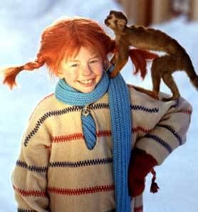 Pippi Långstrump with Herr Nilsson ....ok she is not a Lady ..but I loved her ...