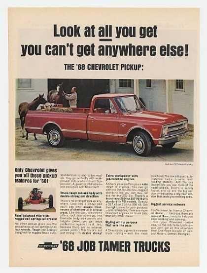 1960 advertisements chevrolet | 67 1968 Chevy Half-Ton CST Fleetside Pickup Truck (1967)