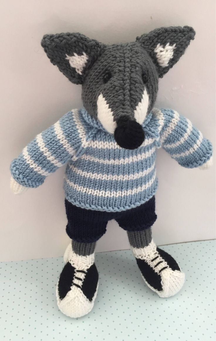 Knitted fox by Nodnook on Etsy