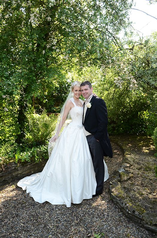 April and Daniel on their Wedding Day