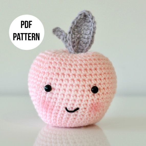 A digital pattern to make this sweet crochet apple.  IMPORTANT: THIS LISTING IS FOR THE PATTERN ONLY - YOU ARE NOT BUYING A FINISHED PRODUCT.  Finished apple measures 13cm from the bottom to the tip of the leaf when made with 8 ply / DK weight yarn and 4.0mm hook. Comprehensive pattern instructions include material requirements, steps to make the apple, and finishing instructions. Written in US crochet terms. You may sell your items made from this pattern on a small scale. This pattern is…