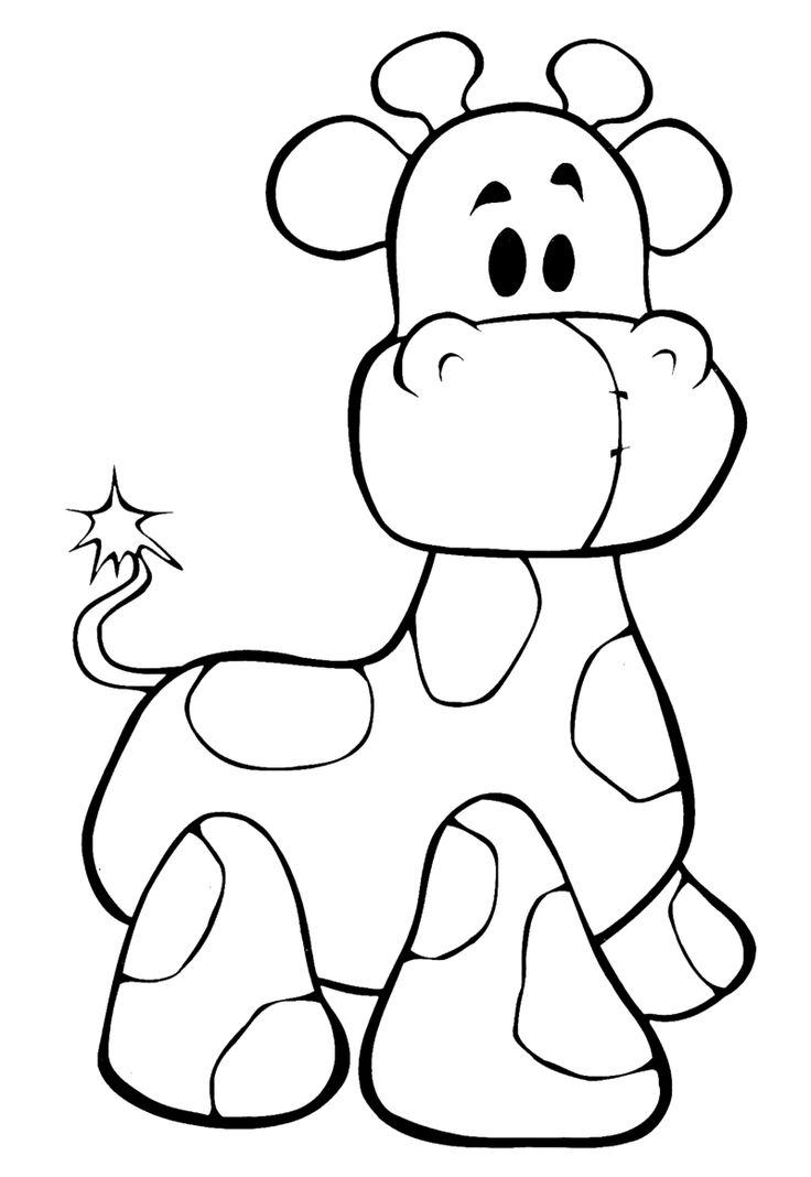 Freebie Cuddly Giraffe Coloring Page