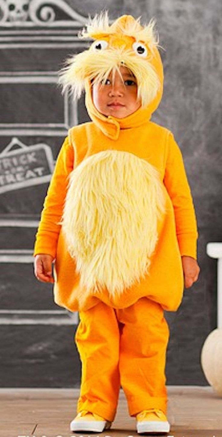 Amazon Com Dr Seuss Lorax Costume 4 6 Toys Amp Games