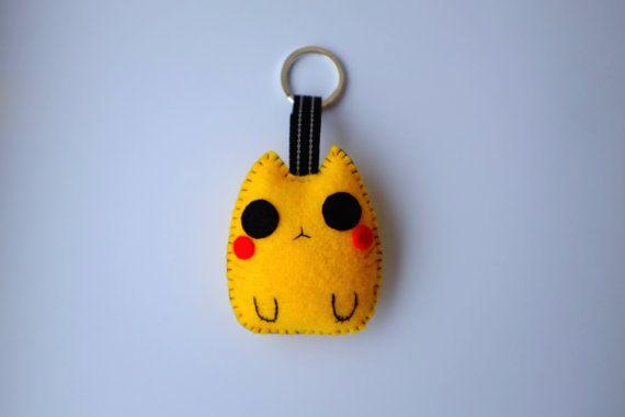 Pikachu+cat+plush+keychain+by+Mielamiela+on+Etsy