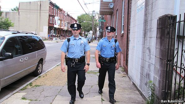 Boots on the street: how foot patrols keep tough neighbourhoods safe | The Economist