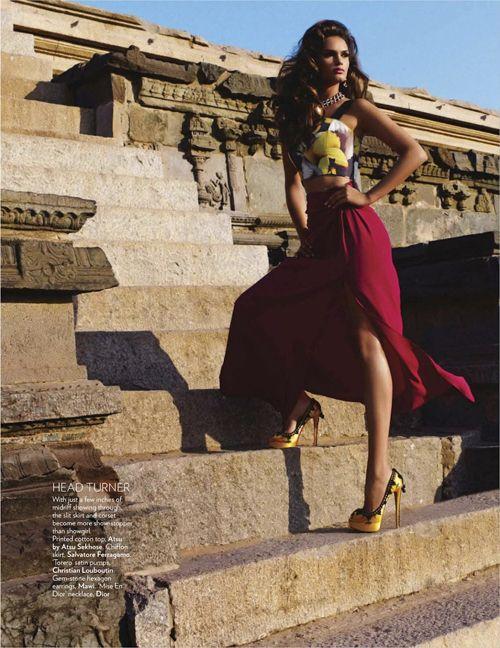 Lisalla Montenegro | Ram Shergill | Vogue India June 2012 ; wow shes gorgeous