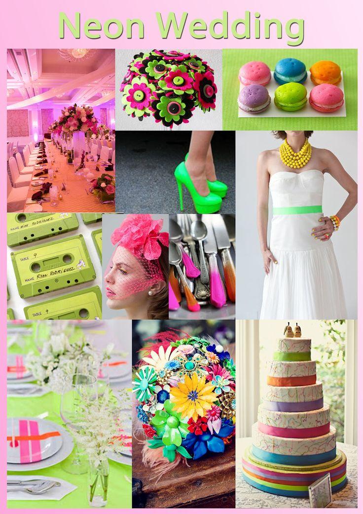 wedding decorations neon  | Neon Wedding Inspiration