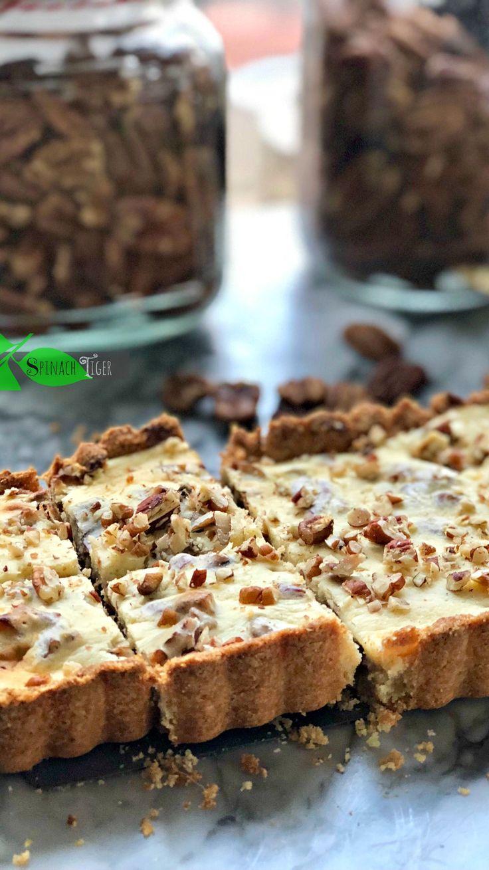 Grain free maple pecan bars keto lowcarb sugar free