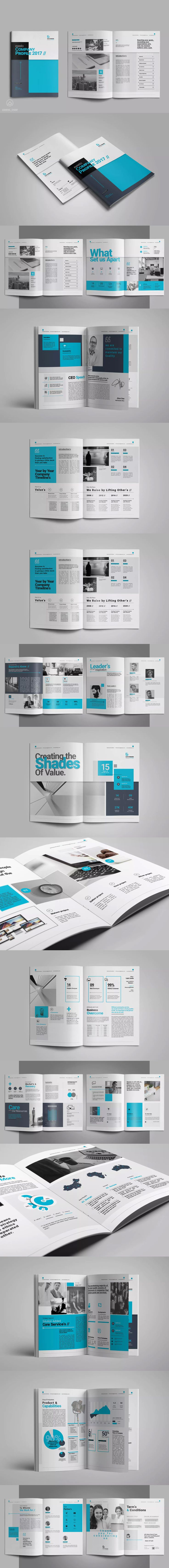 Company Business Profile InDesign INDD - A4 and US Letter Size