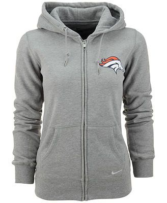 I'd wear this, like everyday, no, I'd live in it! Nike Women's Denver Broncos Full-Zip Hoodie