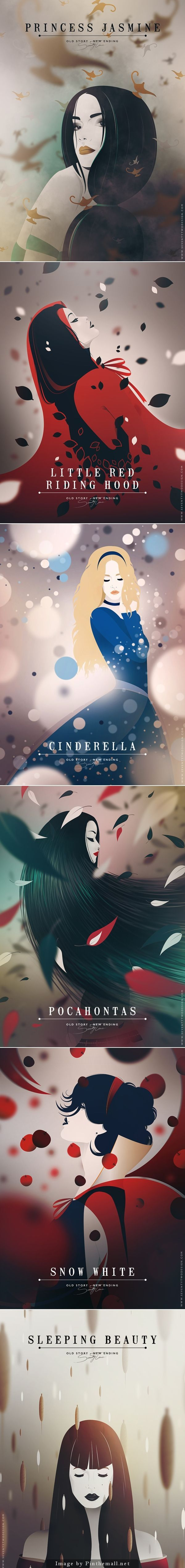 Disney: old story - new ending illustrations by Seventy Two: