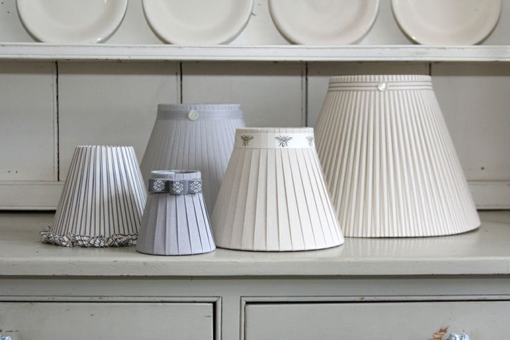 Choose from 5 sizes to fit you wall lights or table lamps.
