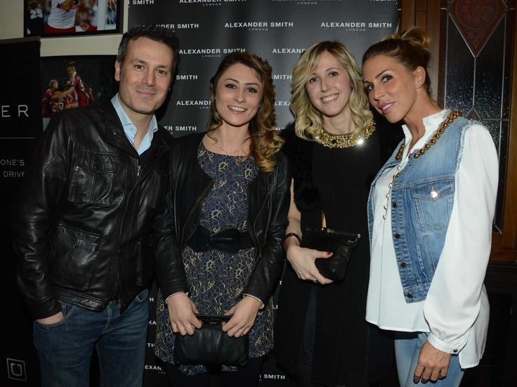 Francesco Villa, Manuela Cappellini, Elisa Airaghi, Guendalina Canessa, Alexander Smith London, party, febbraio 2013, evento