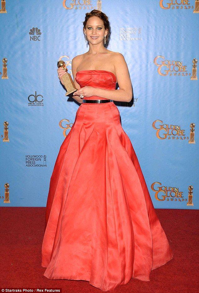 7 best jennifer lawrence orange dress images on pinterest