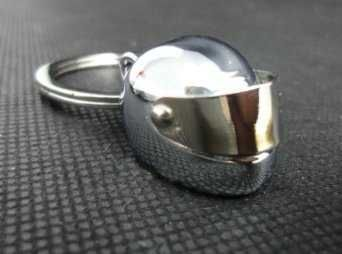 Mini Motorcycle Helmet Keychain