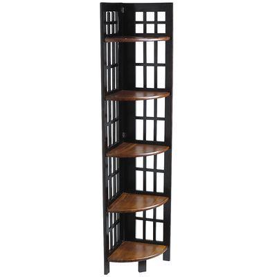 Fretted Folding - Tall Corner Shelf