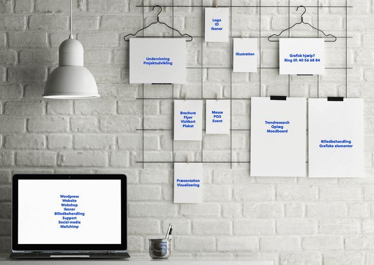 Grafiske opg.: ID/logo, brochure, visitkort, tilbehør til messe/butik/event/pos * Webdesign: Wordpress site/shop, grafik, billedbehandling, ikoner * Illustration: 2D/3D til posters, kort, præsentationer, moodboards, visualiseringer * Undervisning: Adobe Photoshop CC, Illustrator CC, Wordpress * www.grafikbutik.dk