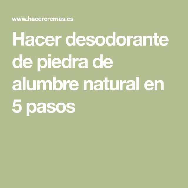 Hacer desodorante de piedra de alumbre natural en 5 pasos