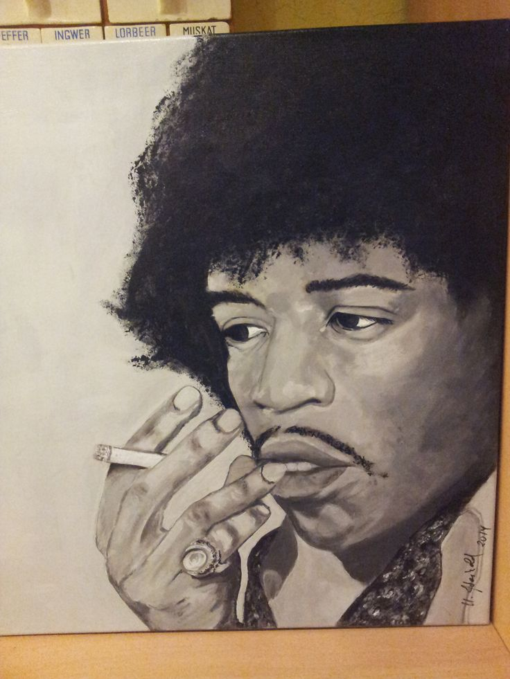 Leinwand 60x60 cm Acrylmalerei Jimmi Hendrix