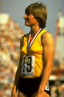Raelene Boyle AM, MBE - athlete - represented Australia at three Olympic Games as a sprinter, winning three silver medals. Named one of 100 National Living Treasures by the National Trust of Australia