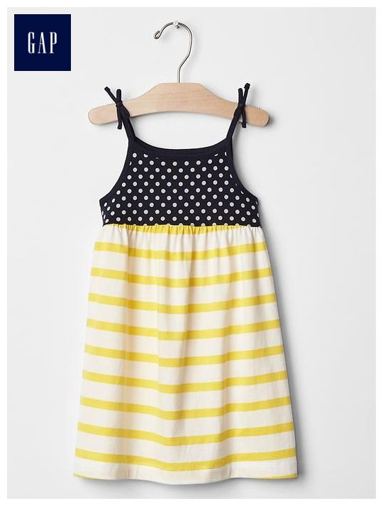 Contrast print dress