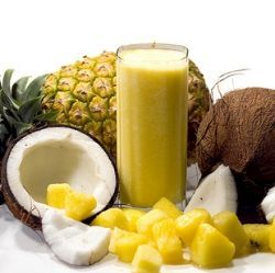 Healthy Breakfast Smoothies For Weight Management - coconut pineapple, peach mango