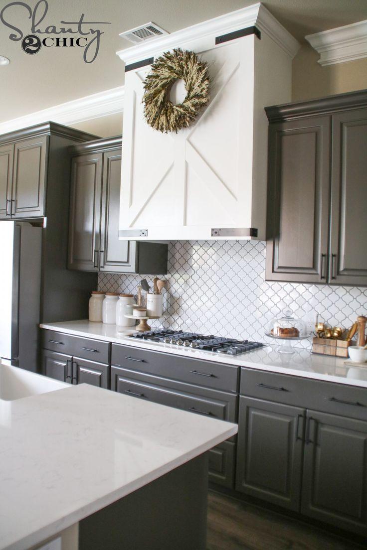 DIY Barn Door Vent Hood | Kitchen remodel cost, Modern ... on Rustic:1Gdhjdx6F3G= Farmhouse Kitchen  id=54568