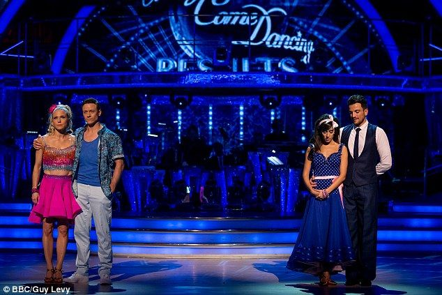 Tense decision: The Mysterious Girl hitmaker and his partner Janette Manrara were kicked off the BBC show after losing the dance off against EastEnders' Kellie Bright and her partner Kevin Clifton