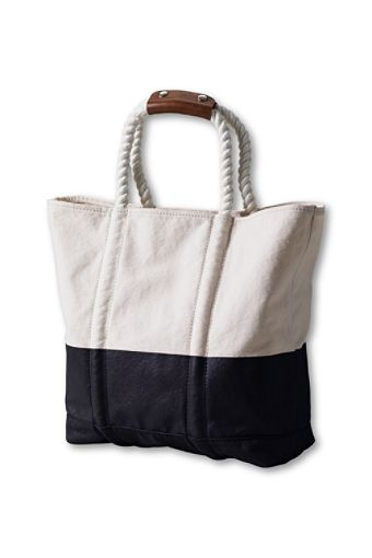Rope Handle Nautical Tote From Land S End Project Marina Pinterest Bags Bag And Sewing