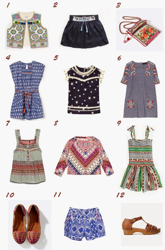 Boho chic for little girls / Tendencia boho chic moda niña primavera verano 2014