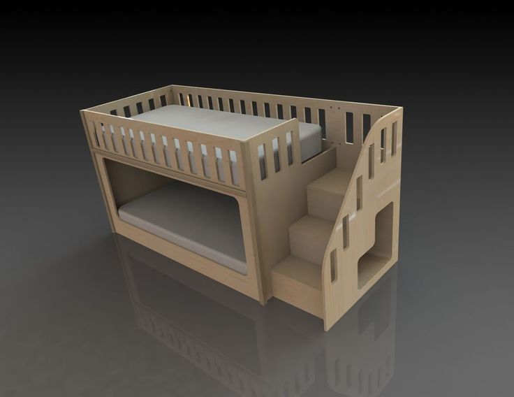 Bunk Bed With Stairs Diy Childrens Bedsbunk