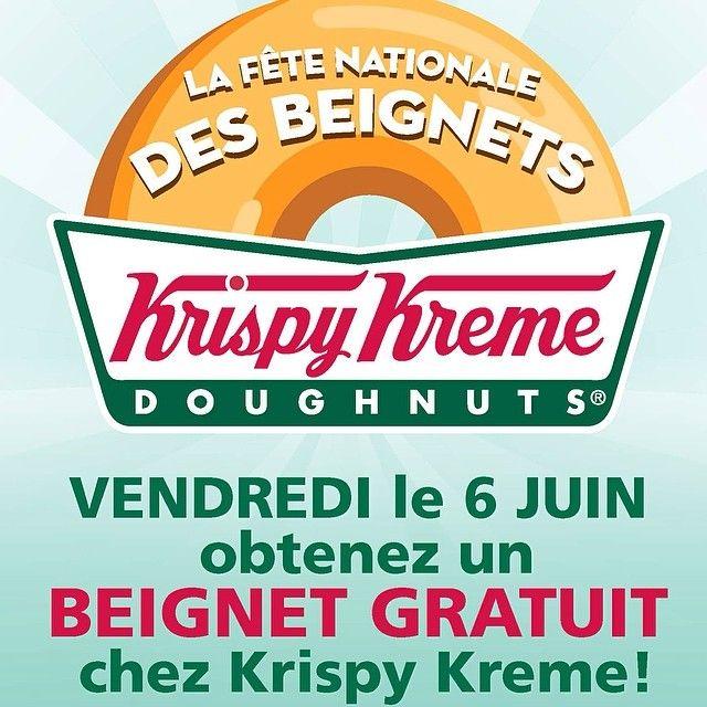 Beigne Krispy Kreme gratuit - 6 juin