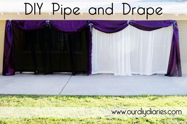 DIY Pipe And Drape I Really Like The Purple With White Looks Like 70 20 Ft