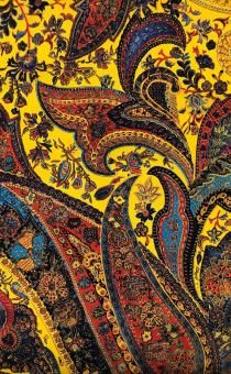 Printed Silk Crepe de Chine with Paisley Patterns