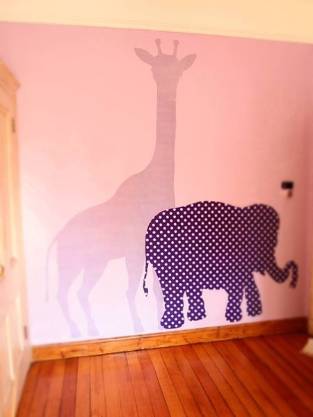 Custom fabric wall decals animal style