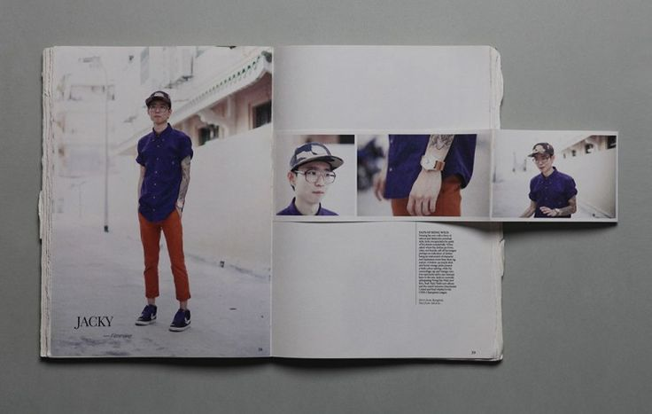 fashion catalogue with an experimental layout design
