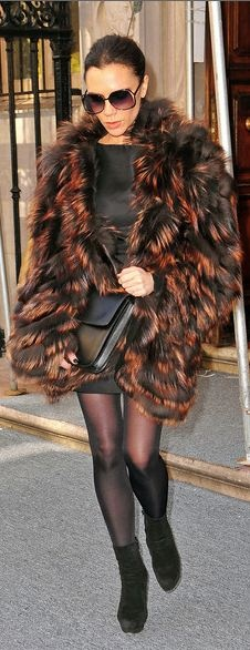 Victoria Beckham Fur Coat- Being Well Dressed is a Beautiful form of Confidence, Happiness & Politeness- ♔LadyLuxury♔