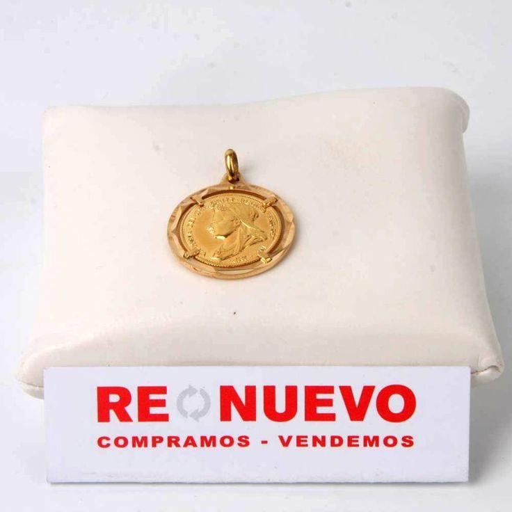 Colgante con moneda reina Victoria de oro#colgante# de segunda mano#oro