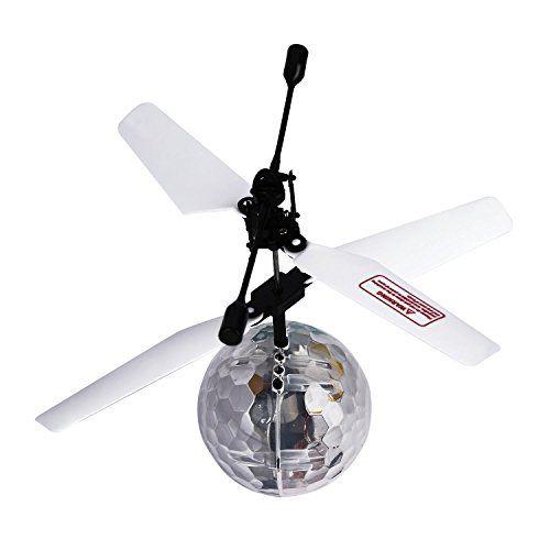 LESHP RC Toy vol Ball RC infrarouge Hélicoptère à induction Boule intégrée lumineux d'éclairage LED pour les enfants, les adolescents…