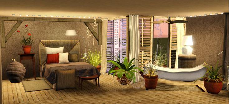 Zveki 39 s modern design mao bedroom sims3 bedding stuff for Sims 3 bedroom designs