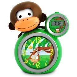 Baby Zoo Monkey Sleep Trainer Clock Green