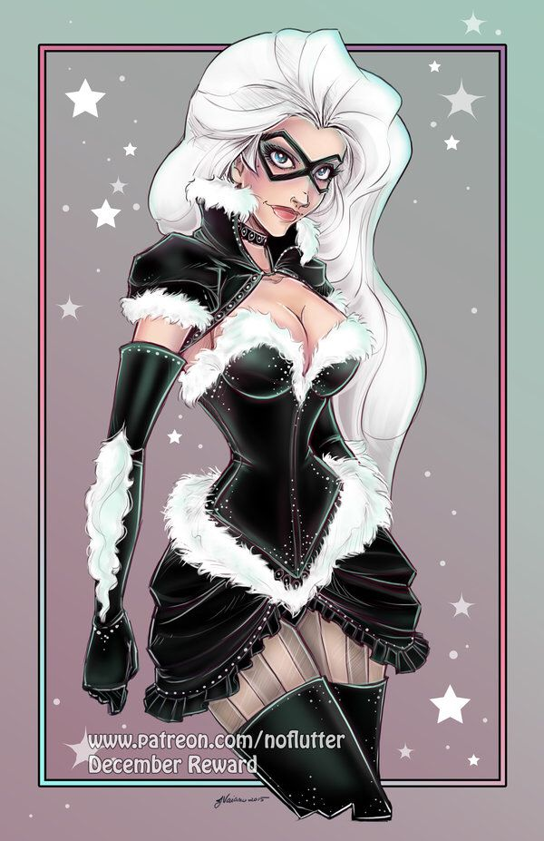 Burlesque Black Cat by NoFlutter on @DeviantArt